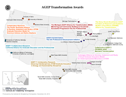 map of recently funded AGEPs